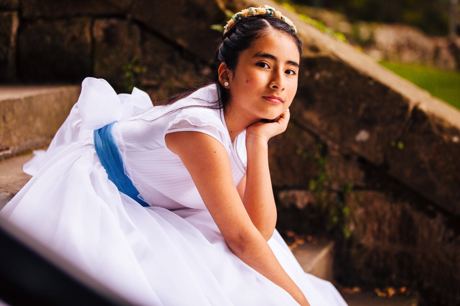 Reportaje de comunion niña. Fotografo Berango, Getxo, Sopelana, Bilbao. Fotografo Kunst Photo & Art