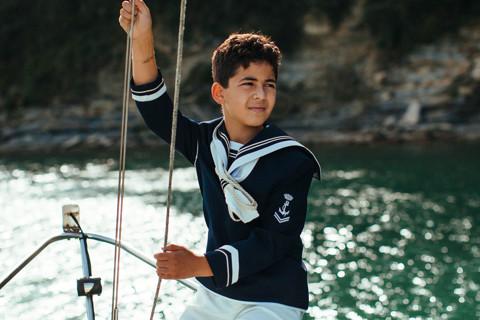 First Comunion sailboat Plentzia