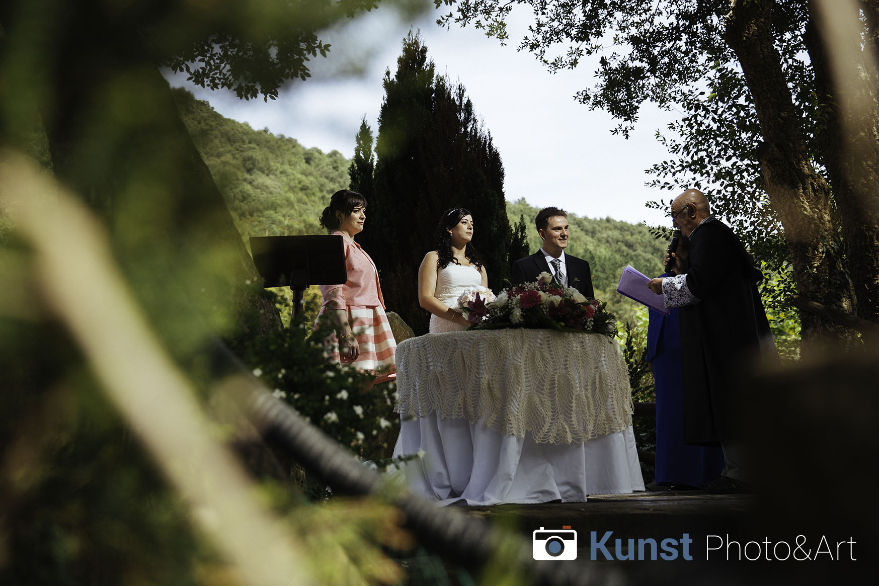 Outdoor Wedding Photography at Lezima Restaurant, Basque Country
